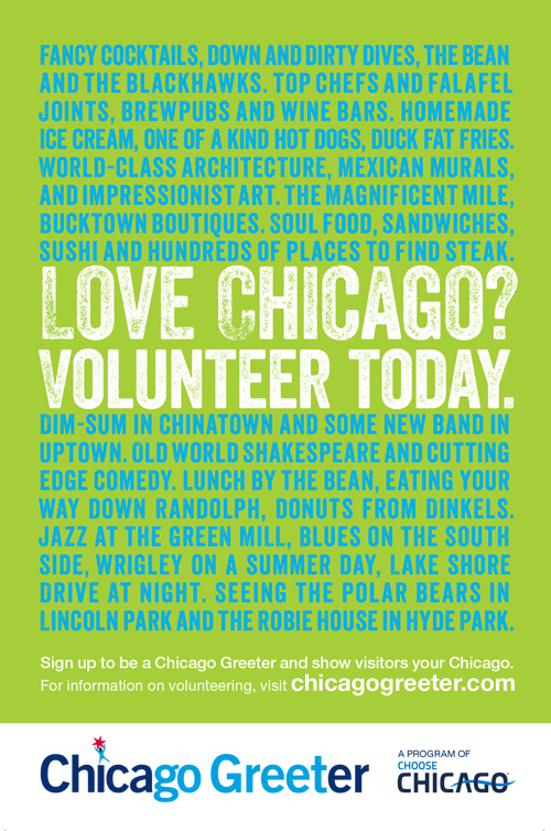 Share your love of Chicago with visitors by becoming a Chicago Greeter volunteer.